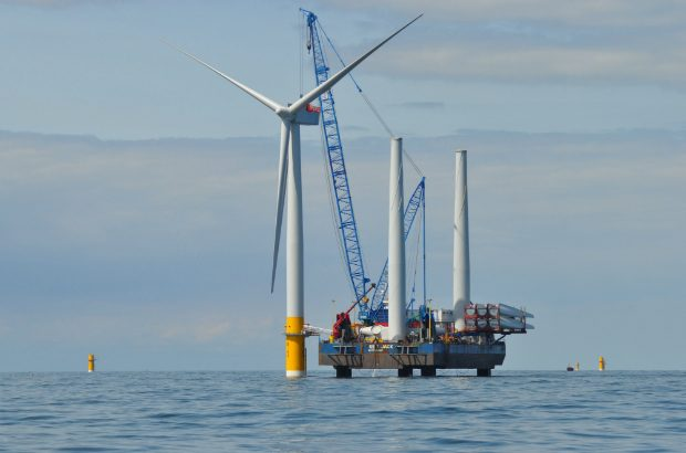 Offshore wind turbine.