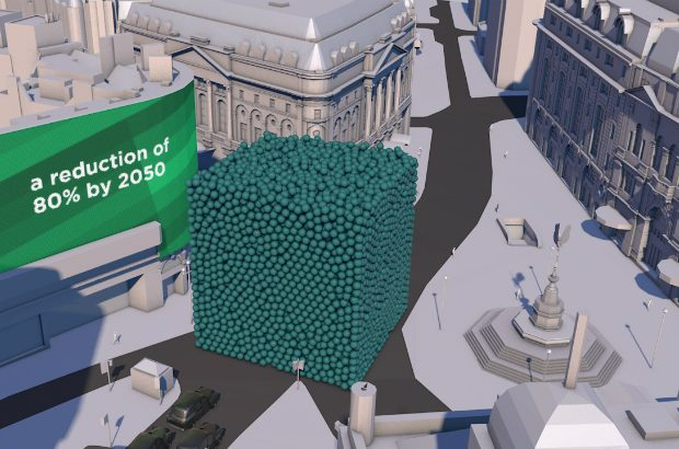 Carbon visualisation: 13,633kg of carbon in Piccadilly Circus in London